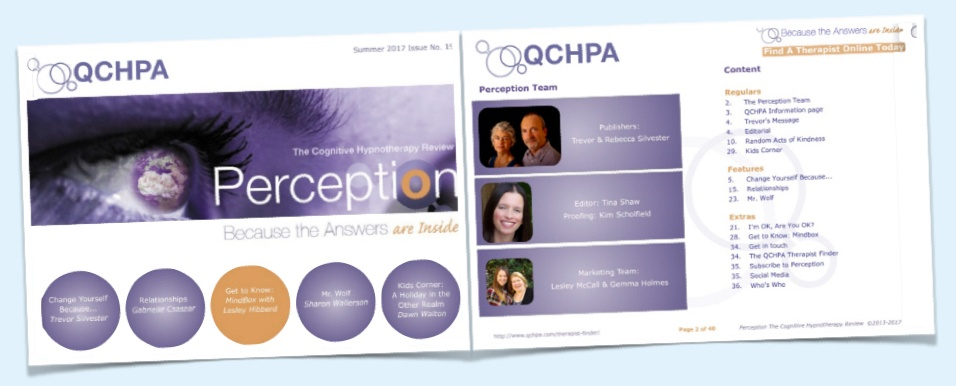 Perception Cognitive Hypnotherapy Magazine